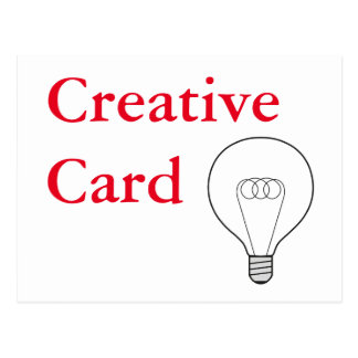 Creative Card postcard red writing