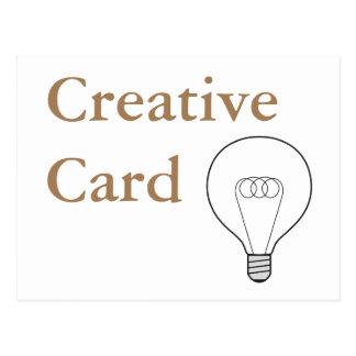 Creative Card tarjeta postal escritura marrón