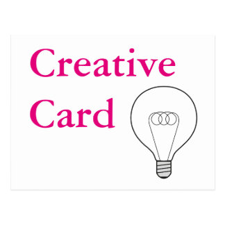 Creative Card tarjeta postal escritura pinke