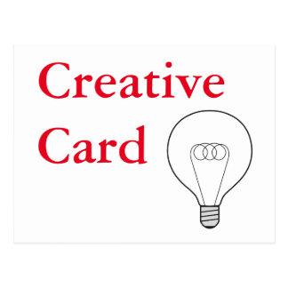 Creative Card tarjeta postal escritura roja