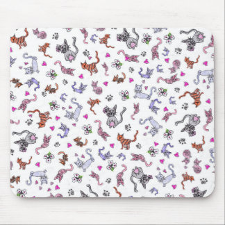 Creative Cats - A Colorful Pet-Lovers Pattern Mouse Pad