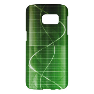 Creative Chart Line Graph Abstract Background Samsung Galaxy S7 Case