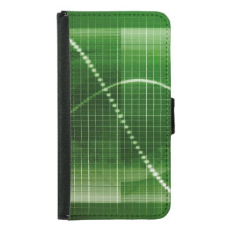 Creative Chart Line Graph Abstract Background Wallet Phone Case For Samsung Galaxy S5