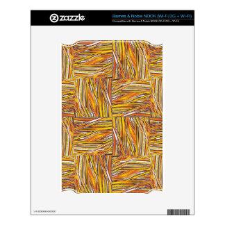 creative checkered, orange NOOK skins