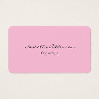 Creative Classical Simple Pink Plain Unique Business Card