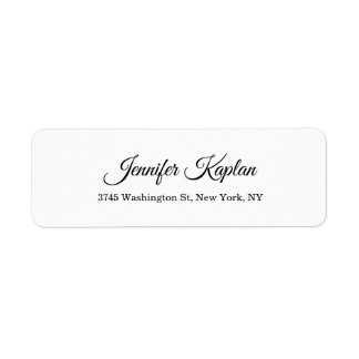 Creative Classical White Minimalist Professional Label