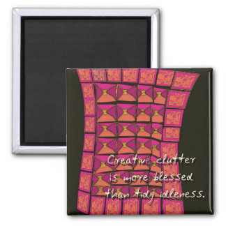 creative clutter 2 inch square magnet