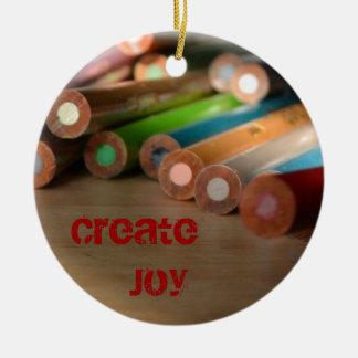 Creative Colors Create Joy Ornament