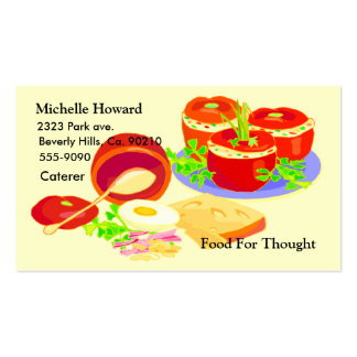 Creative Cooking Foodie Business Card