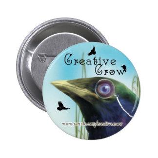 Creative Crow Button