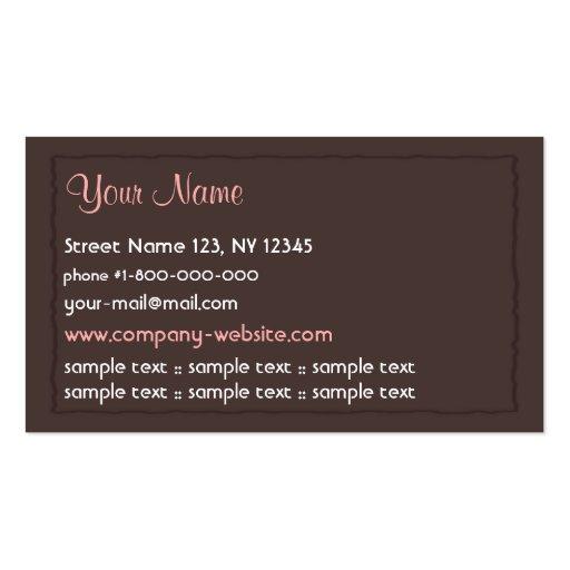 Creative Cupcake Business Card (back side)