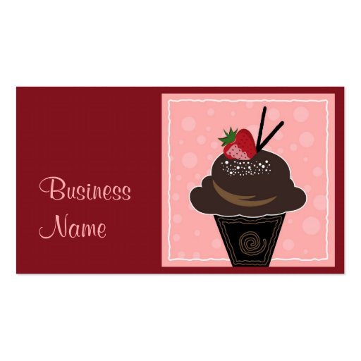 Creative Cupcake Business Card (front side)