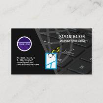 Creative Cute Mouse Computer Repair Business Card