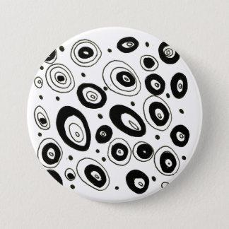Creative designers button : black and white