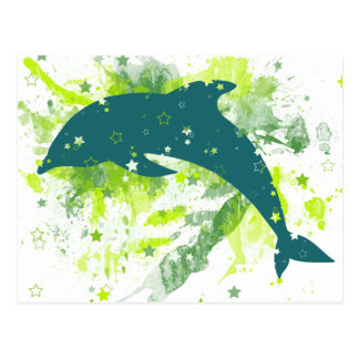 Creative Dolphin Design Postcard