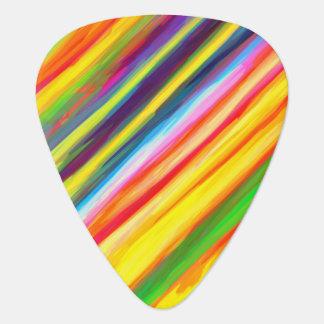 Creative Dripping Paint Streaks Abstract Art Guitar Pick