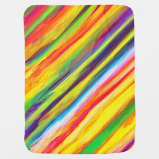 Creative Dripping Paint Streaks Abstract Art Stroller Blanket