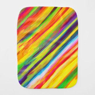 Creative Dripping Paint Streaks Abstract Art Burp Cloth