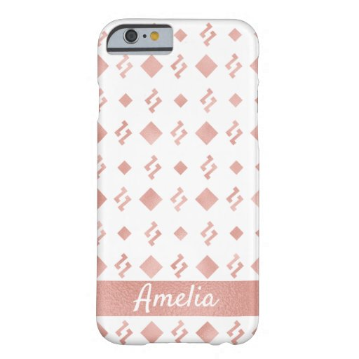 Creative Elegant Rose Gold Foil Name Barely There iPhone 6 Case