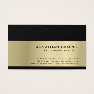 Creative Elegant Trendy Professional Gold Look Business Card