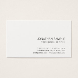 Creative Elegant White Trendy Simple Professional Business Card
