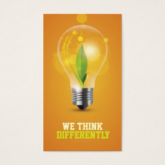 creative energic bulb business card