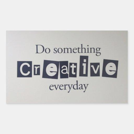 creative everyday rectangular sticker