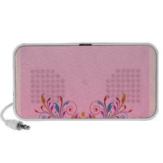 Creative floral art work in vibrant colors speaker system