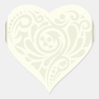 Creative floral heart valentine gift heart sticker