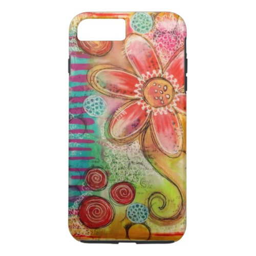 Creative Flower Doodle Phone Case