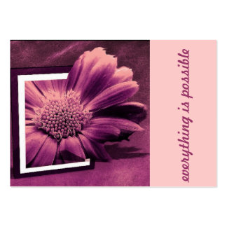 creative flower large business card