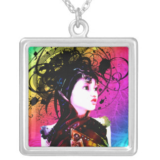 Creative Funk Industrial Surrealism Art Silver Plated Necklace