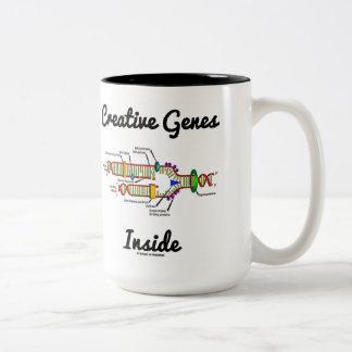 Creative Genes Inside (DNA Replication) Two-Tone Coffee Mug