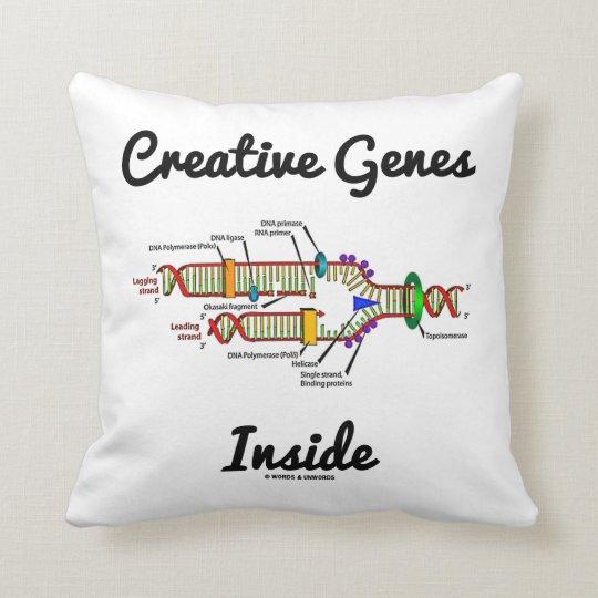 Creative Genes Inside (DNA Replication) Throw Pillow