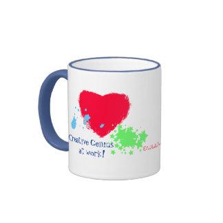 Creative Genius at Work! Ringer Mug