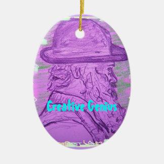 Creative Genius Ceramic Ornament