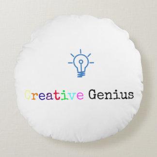 Creative Genius Round Pillow