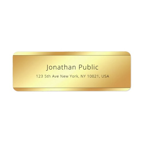 Creative Glamour Gold Simple Template Modern Chic Label