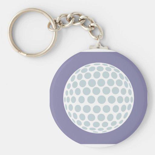 Creative Golf Ball Basic Round Button Keychain