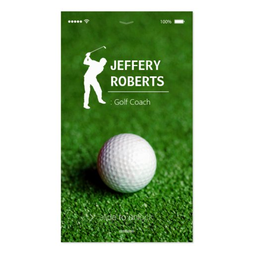 Creative Golfer Golf Coach Business Cards (front side)