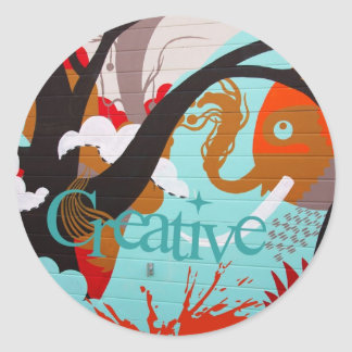Creative Graffiti Classic Round Sticker