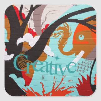 Creative Graffiti Square Sticker