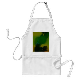 Creative Green Yellow Abstract Aprons