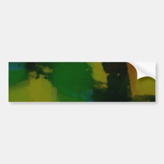 Creative Green Yellow Abstract Bumper Sticker