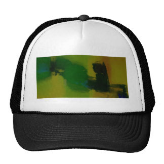 Creative Green Yellow Abstract Mesh Hat