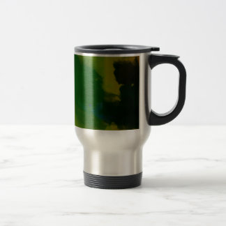 Creative Green Yellow Abstract Mugs