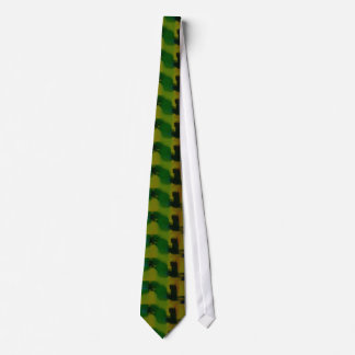Creative Green Yellow Abstract Neck Tie