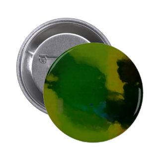 Creative Green Yellow Abstract Pinback Button