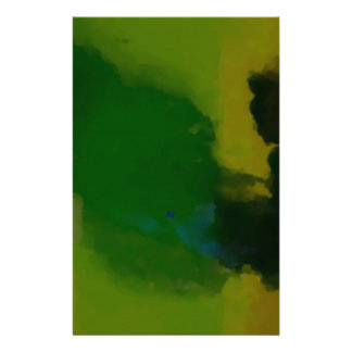 Creative Green Yellow Abstract Stationery