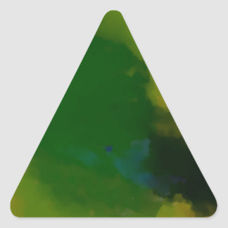 Creative Green Yellow Abstract Triangle Sticker